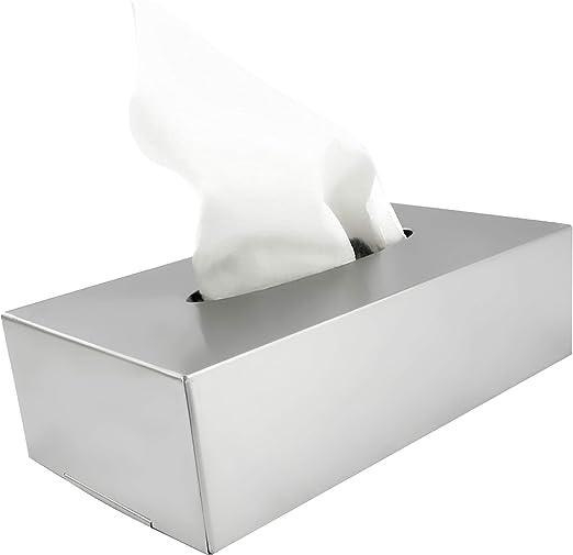 com-four® Caja para Pañuelos de Papel de Acero Inoxidable ...