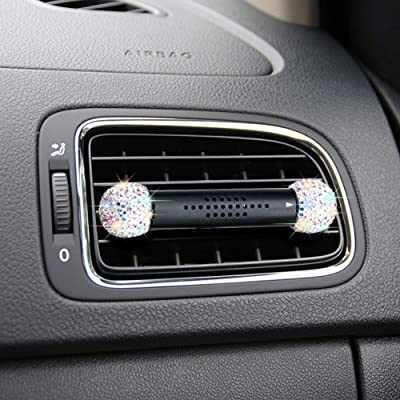 SAVORI Car Air Freshener Vent Clip, Bling Rhinestone Crystal Solid Perfume Aroma Car Fragrance Diffuser with Vent Clip Car Vehicle Solid Air Purifier Reusable for Vehicle Bedroom (Multicolor): Automotive