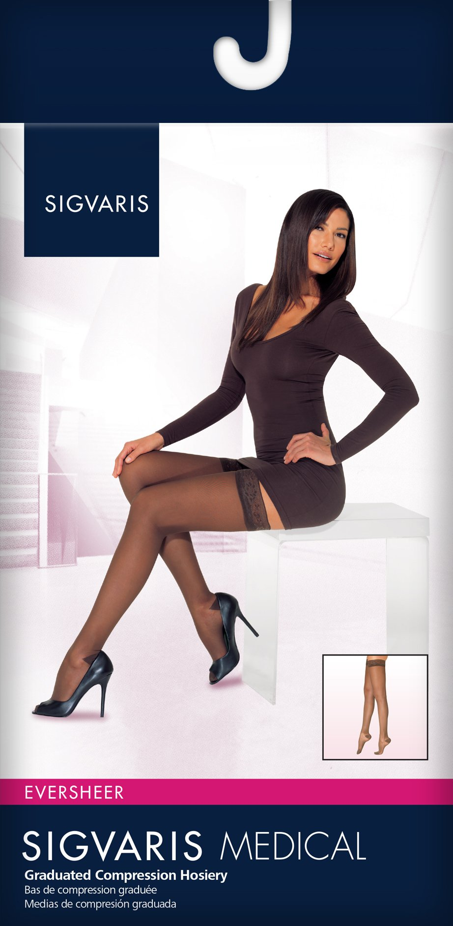 SIGVARIS Women's EVERSHEER 780 Closed Toe Thigh High w/Grip-Top 20-30mmHg by SIGVARIS (Image #3)