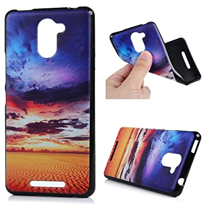 Funda BQ Aquaris U Plus, Lanveni Carcasa TPU Gel Silicona para BQ Aquaris U Plus Suave Flexible ultra delgado Protective Case Cover - Diseño Brillo ...
