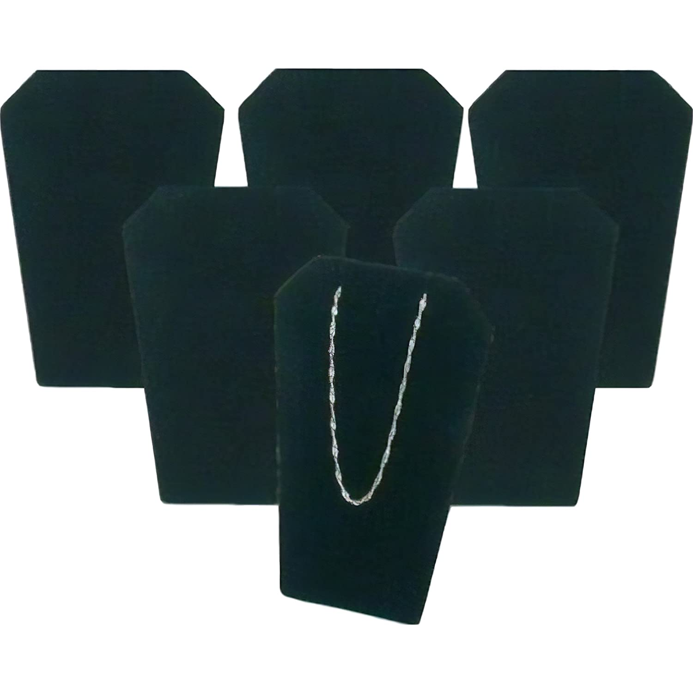 6 Mini Black Velvet Necklace Pendant Chain Earring Display Stands USA Display Inc AX-AY-ABHI-122422