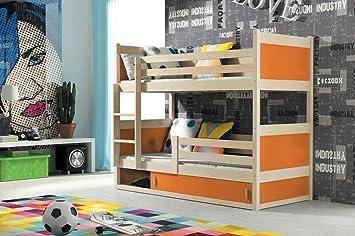 Interbeds Cama litera Infantil Rico 185/80 en Color Pino + somieres + colchones de Espuma: Amazon.es: Hogar
