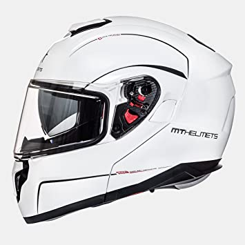 b61de0b2 MT - Helmet Modular Atom SV Solid White Size M (57 - 58 cm): Amazon ...