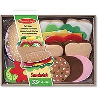 Melissa & Doug - 13954 - Aliments En Feutre - Ensemble De Préparation De Sandwichs