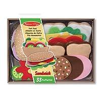 Melissa & Doug Alimentos de fieltro juego para sandwiches