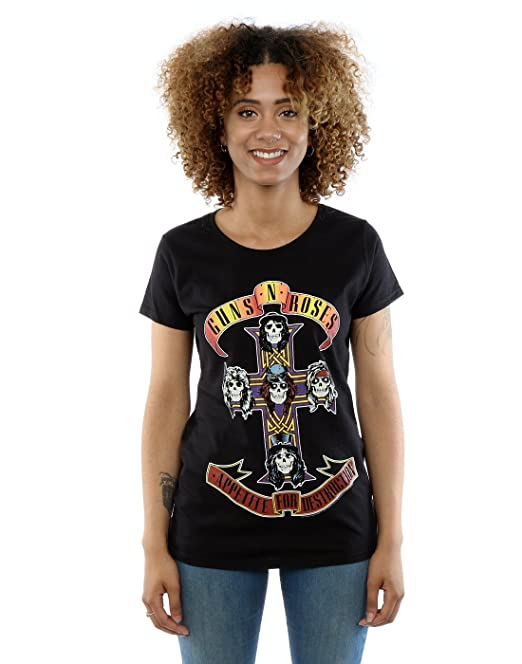 Guns N Roses mujer Appetite For Destruction Camiseta: Amazon.es: Ropa y accesorios