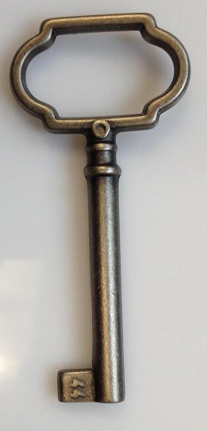 Key Brass Finish Skeleton Antique