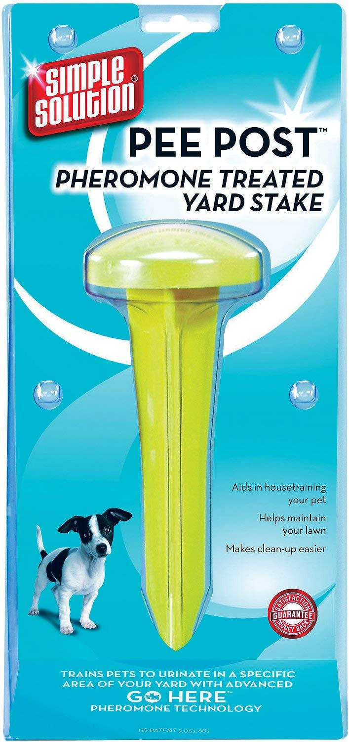 Simple Solution Pee Post Pheromone Treated Yard Stake for Dogs, 6 Pack by Simple Solution