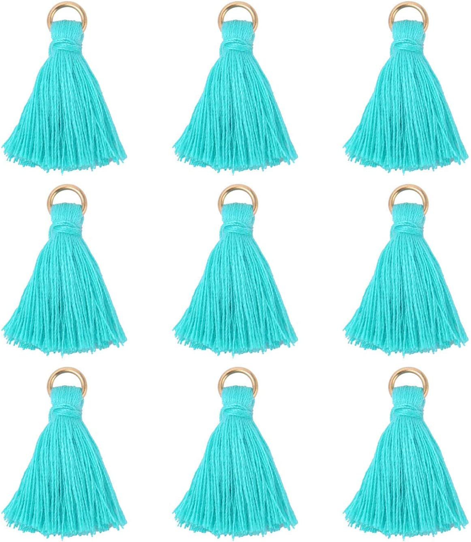 NO.001 38mm Tiered Tassels 5Pcs Handmade Cotton Tassels,Small Three Tier Tassel Pendant Tassel Earring findings Layered Tassels