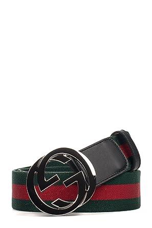 4c7d41c905e Gucci Homme 411924H917N1060 Rouge Vert Polyamide Ceinture  Amazon.fr ...