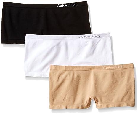 a77cf9925887 Calvin Klein womens 3 Pack Pure Seamless Boyshort Panty 3 Pack Pure  Seamless Boyshort Panty Boy
