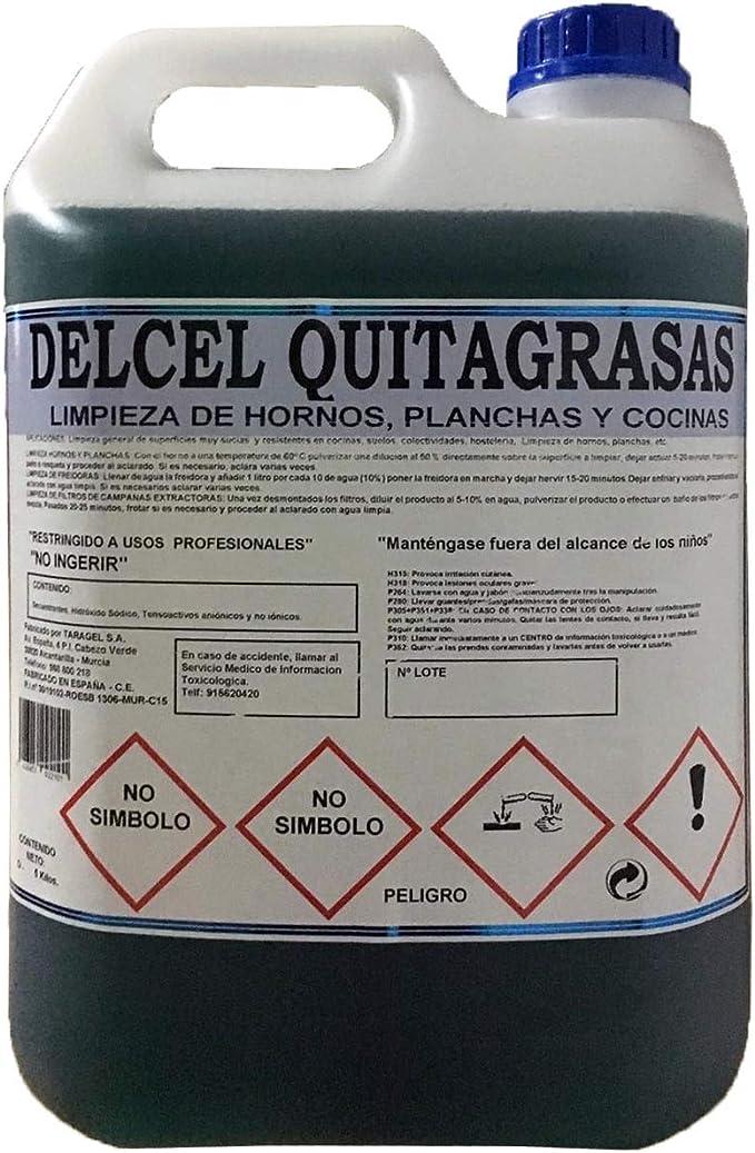 eco-LH DELCEL Quita-Grasas HIGIENIZANTE para cocinas, Suelos y Superficies Muy sucias (5kgrs): Amazon.es: Hogar