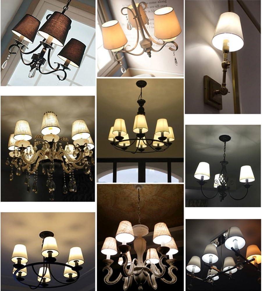 Noir avec clips de fixation Eastlion Ensemble 6/pcs 9*14*13/cm Lin Bougie Lustre Abat-jour lampe murale lampe suspendue Abat-jour