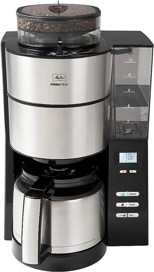 Melitta 1021-12, molinillo y termo integrados, cafetera de filtro ...
