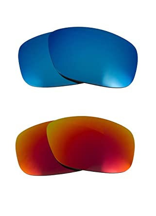 05f0e225b2d Best New SEEK Replacement Lenses for Oakley THINLINK Red Blue Mirror 100%  UV  Amazon.co.uk  Clothing