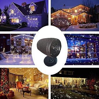 CRITY – Lámpara de proyección, Navidad, nieve, césped, resistente ...