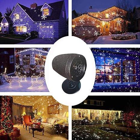CRITY - Lámpara de proyección, Navidad, nieve, césped, resistente ...