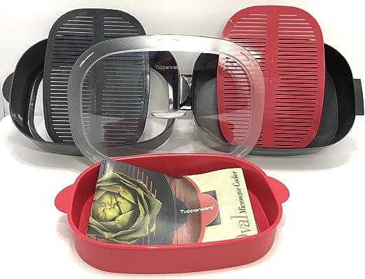 Amazon.com: Tupperware juego de apilar microondas Oval con ...