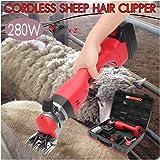 電気羊クリッパー 羊毛バリカンコードレス,280W & 4000mahバッテリー,羊の毛刈り機 電動シープヤギシャーリングマシンクリッパーシアーカッターウールシザー 羊せん断はさみ 毛皮のはさみ 動物