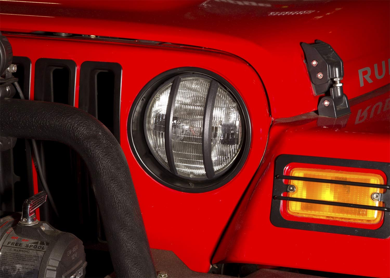 Pair for 1997-2006 Jeep Wrangler TJ Rugged Ridge 12419.23 Black Headlight Bezel