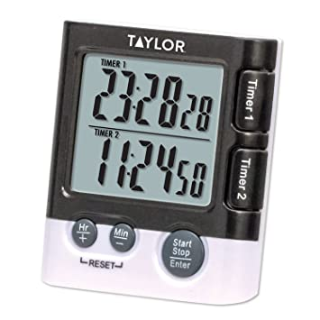 Taylor Productos de precisión Doble Event Temporizador Digital/Reloj, Negro, 1