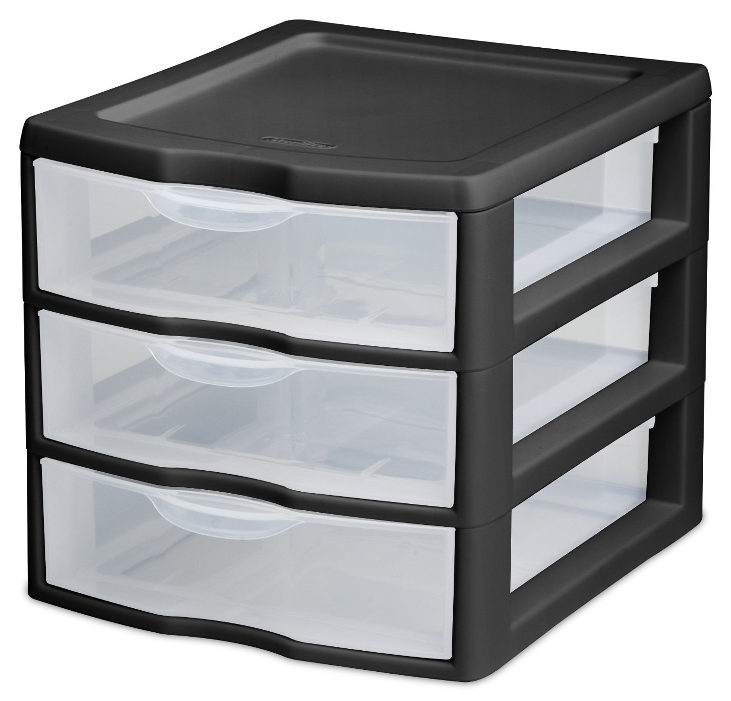 Amazon Com Sterilite   Drawer Clearview Desktop Unit Home Kitchen