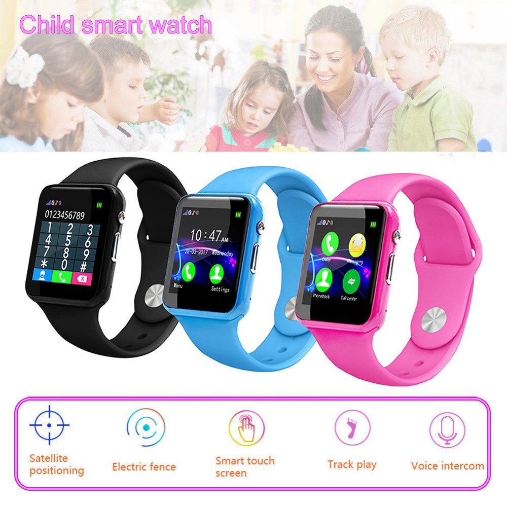 Kid Smart Watch Phone for Girls Boys with GPS Tracker IP67 Waterproof Fitness Watch Best Gift for Children (Pink) by OVERMAL_Watches (Image #3)