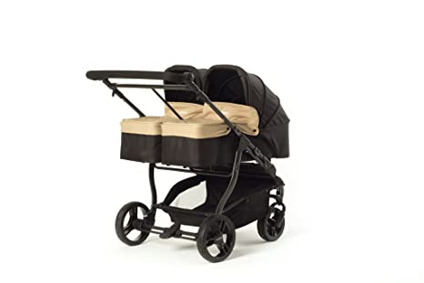 Baby Monsters Silla gemelar EASY TWIN 3.0 + 2 capazos color arena (sand) +