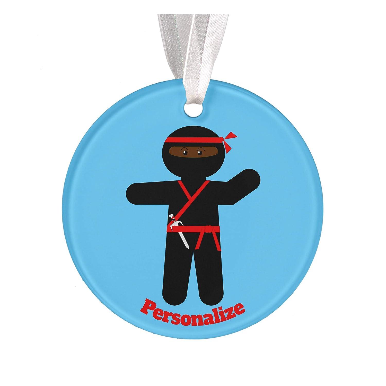 Amazon.com: Personalized Ninja Aluminum Christmas Ornament ...
