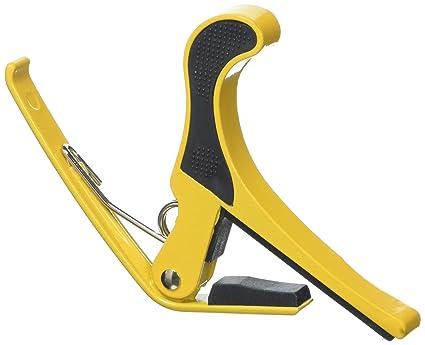 AKORD - Cejilla para guitarra eléctrica acústica, cambio rápido, una sola mano, color