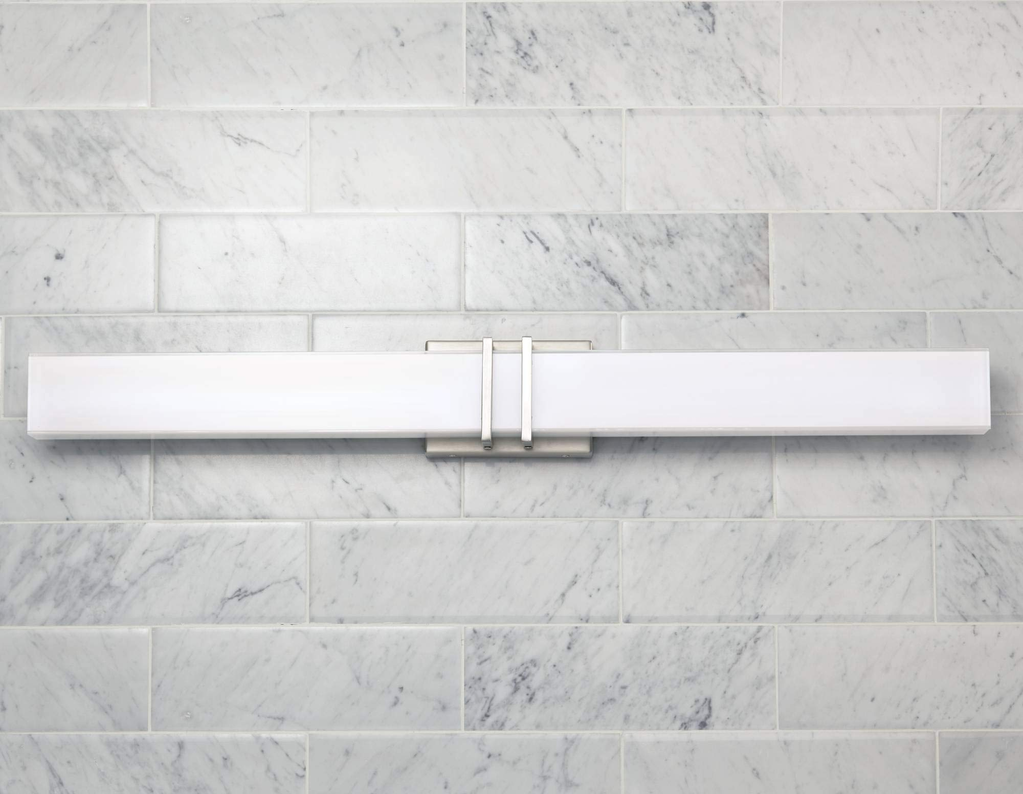 Exeter Modern Wall Light LED Brushed Nickel 36'' Vanity Fixture for Bathroom Over Mirror - Possini Euro Design