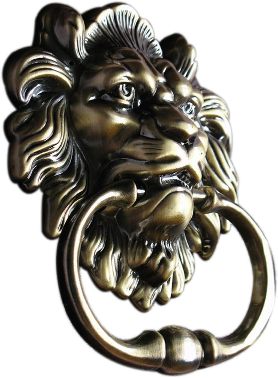 UniDecor Antique Bronze Lion Head Door Knockers Front Door Handle Knobs