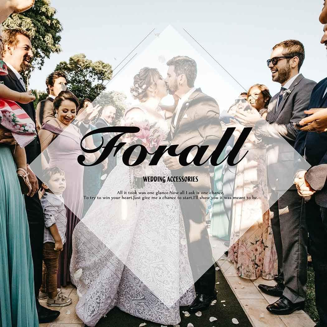 Forall Serre-t/ête en voile de mari/ée pour mari/ée ou enterrement de vie de jeune fille