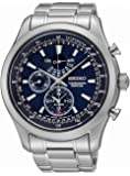 Seiko SPC125P1 Neo Classic Alarm Perpetual Blue Dial Stainless Steel Mens Watch