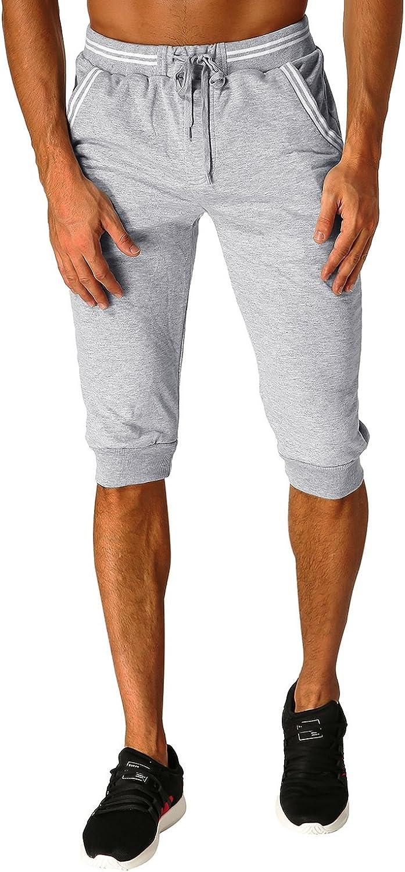 modchok – Pantalones cortos Pantalón corto de jogging Pantalones Pantalones Cortos Sport Bermudas Ocio Corto Corto Pantalones Hellgrau 2 XL: Amazon.es: Ropa y accesorios