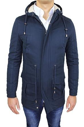 5856ace8318ec Evoga Giaccone Parka Uomo Invernale Casual Slim Fit con Pelliccia   Amazon.it  Abbigliamento