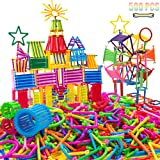AveryLu 500 PCS Building Toy Building Blocks Bars Different Shape Educational Construction Engineering Set 3D Puzzle…