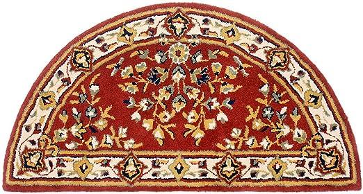 Amazon Com Minuteman International Burgundy Oriental Wool Hearth Rug Half Round Home Kitchen