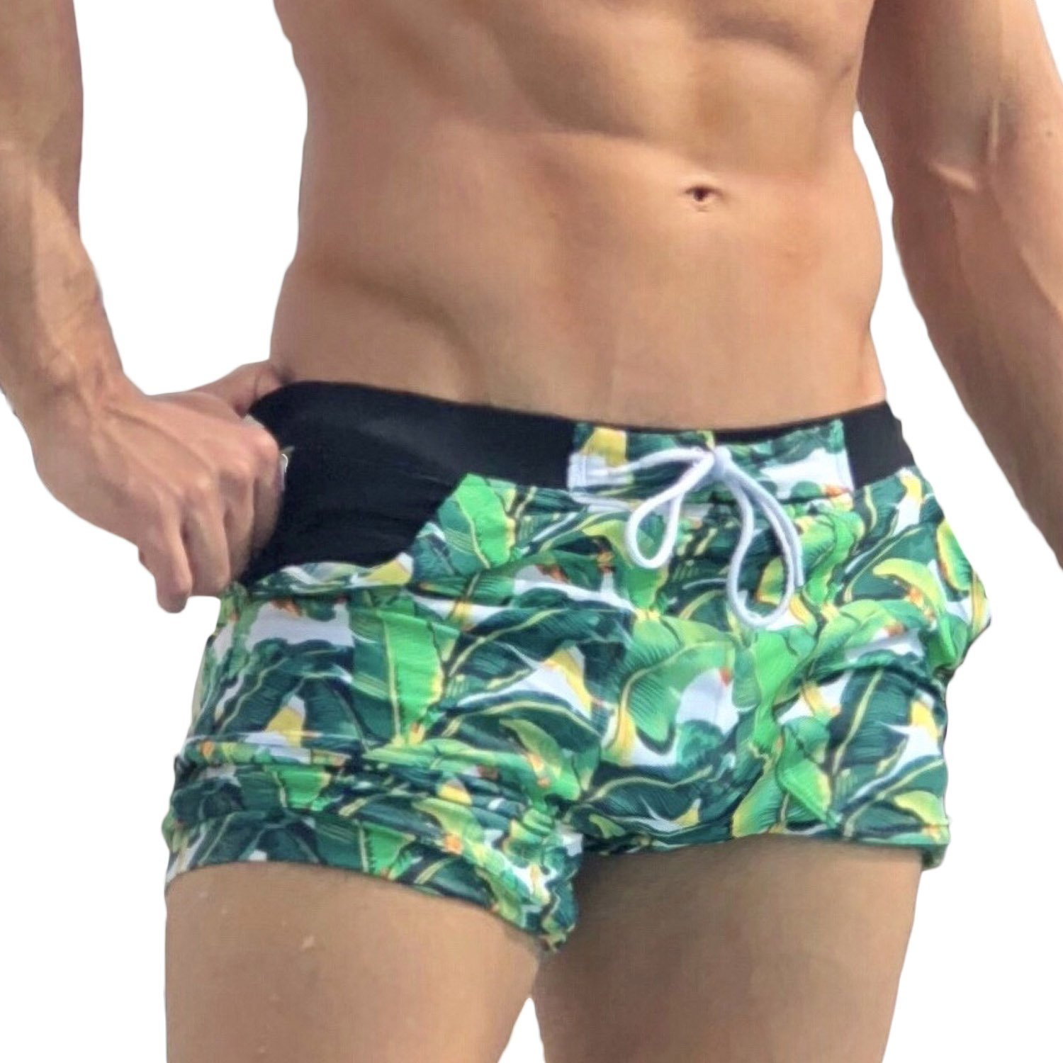 f1efb3aefe7 Taddlee Men Swimwear Swimsuits Flower Print Surf Board Boxer Shorts Trunks  Long