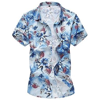 Yvelands Camisa con Botones de los Hombres Que Imprime la Camisa ...