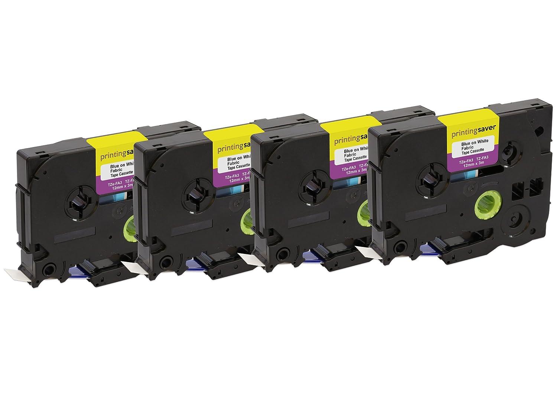 5 Nastri Compatibili TZe-FA3 TZ-FA3 12 mm x 3 m Blu su Bianco Etichette per Stampanti Brother P-Touch