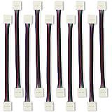 SENDIS [lot de 10/17cm] Connecteur de Ruban LED 5050 Câble Adapteur SMD LED RGB Câble de Connexion 10mm 4pins pour Bande LED 5050