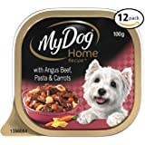 MY DOG Home Recipe Beef Pasta Wet Dog Food 100g Tray, 12 Pack