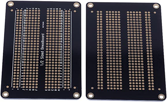 Cylewet 6Pcs Solderable Half-Sized Breadboard PCB Proto Board for Arduino Pack