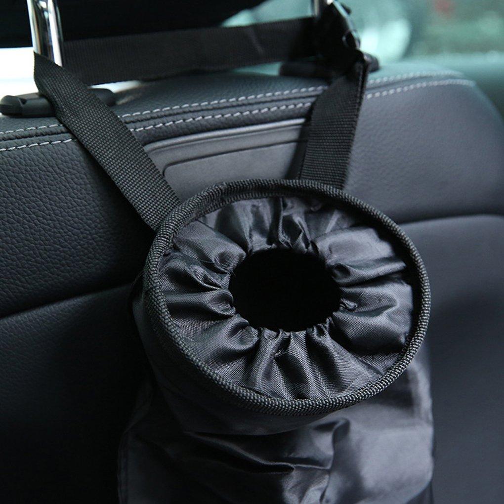 La basura de tela Oxford coche cubo de basura colgantes sostenedor del bolso de contenedores autom/ático almacenaje del asiento trasero organizador del bolso Regard