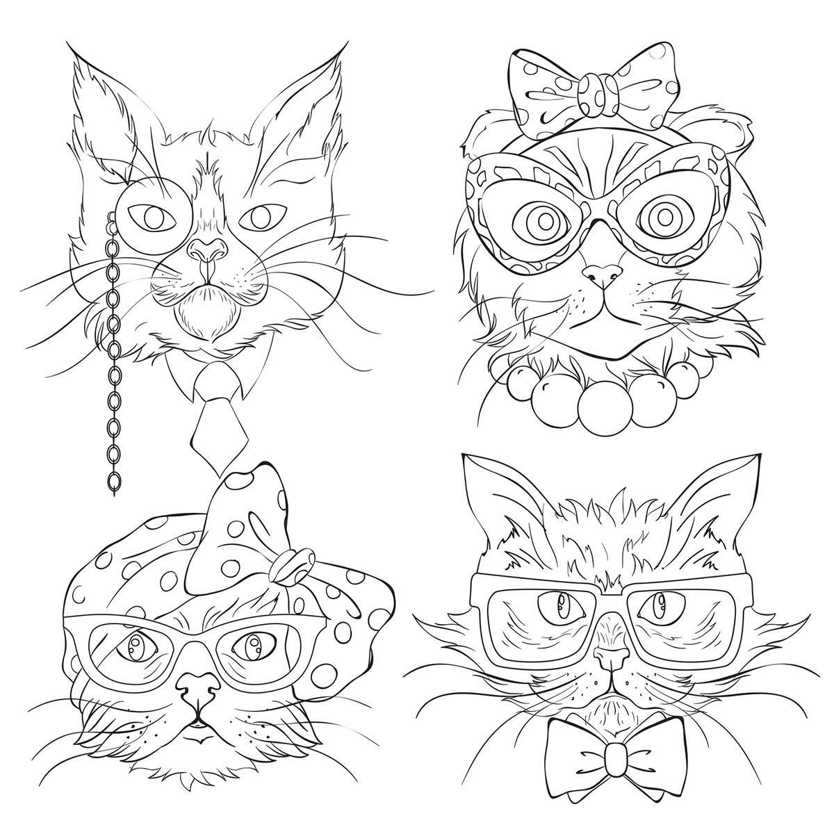 Kaisercraft Cat Portraits Kaisercolour Gift Card with Envelope, 6