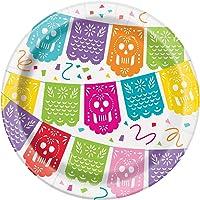 Unique Party 58684-18 cm Mexican Fiesta Paper Plates