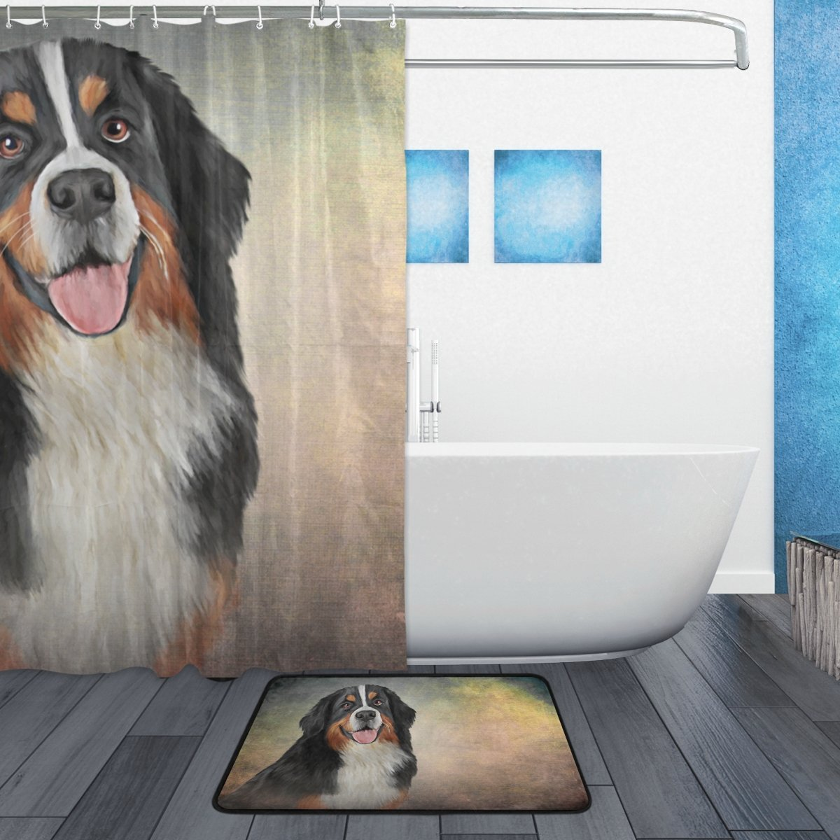 Home My Daily Bernese Mountain Dog Shower Curtain 72 X 72