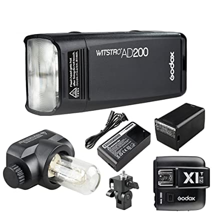 Godox AD200 Flash Strobe 2.4G TTLPocket Flash Light 200Ws TTLHSS 1 ...