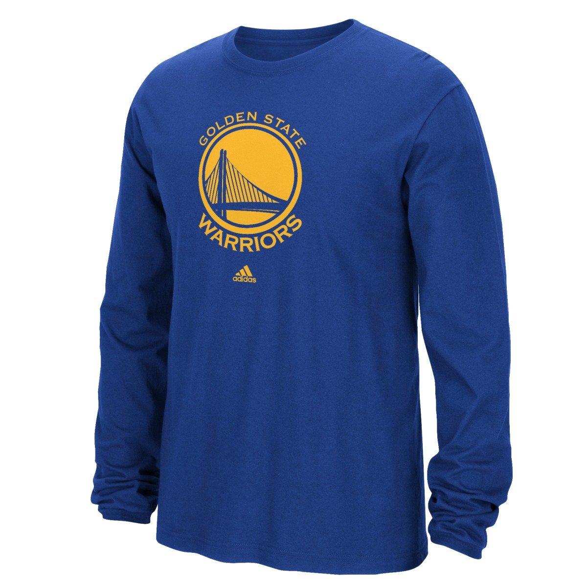 adidas Golden State Warriors NBA Full Primary Logo Long Sleeve T-Shirt - Blue